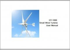 HY-1000 wind turbine user manual